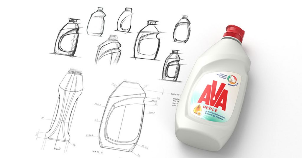 Produktdesign AVA Spülmittel