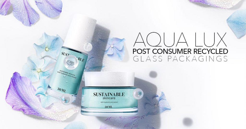Aqua Lux – Post Consumer Recycled glass packagings